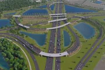 Conceptual view of completed interchange