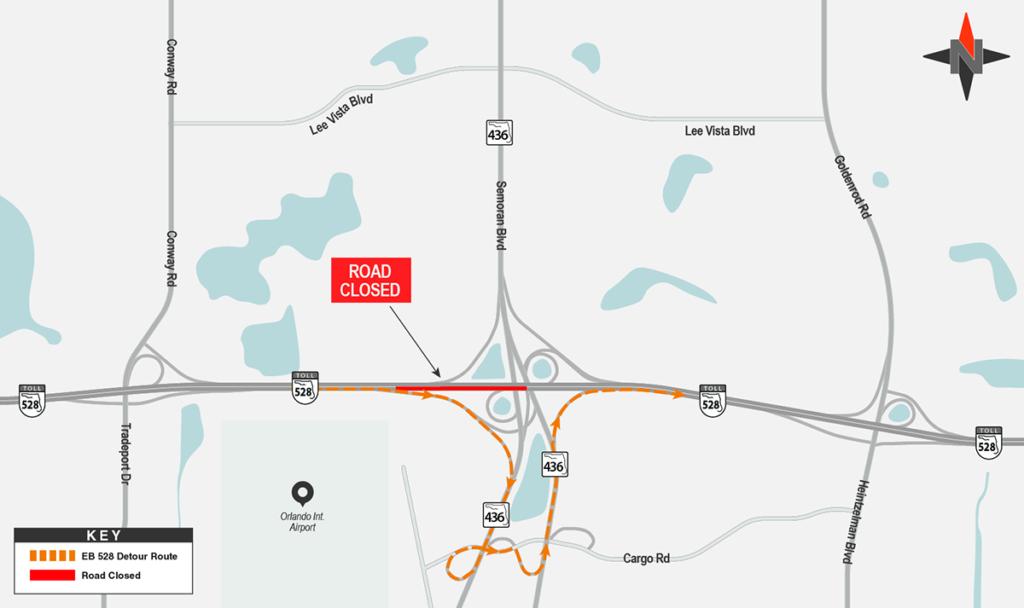 Eastbound SR 528 Detour