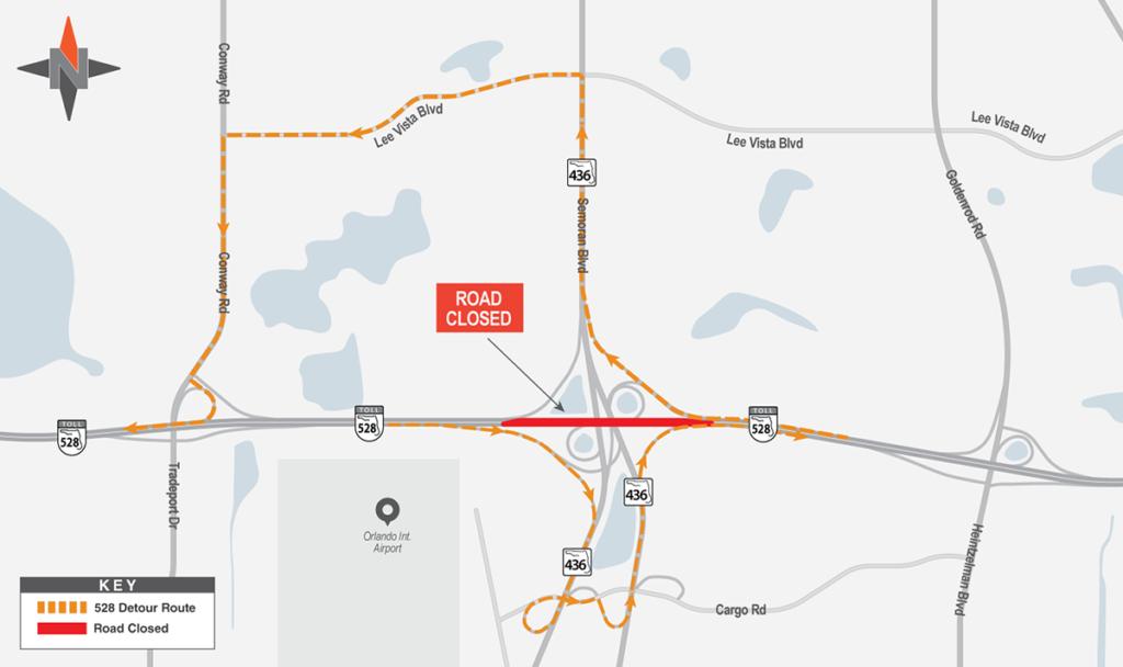 Eastbound & Westbound SR 528 Detour