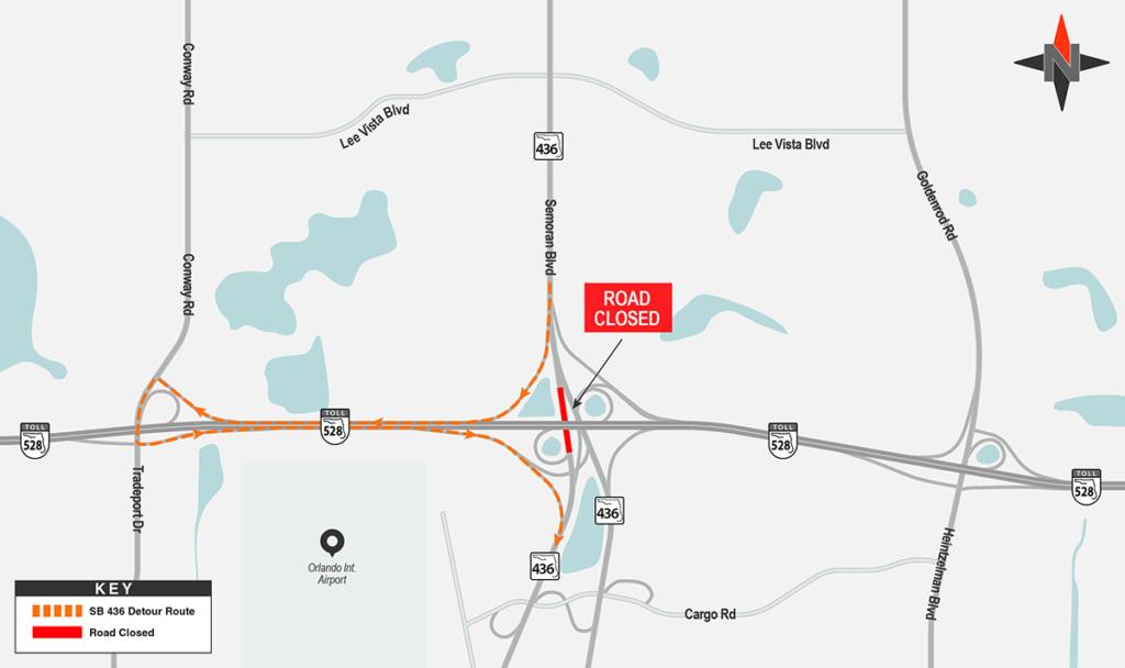 Southbound SR 436 Closure Detour