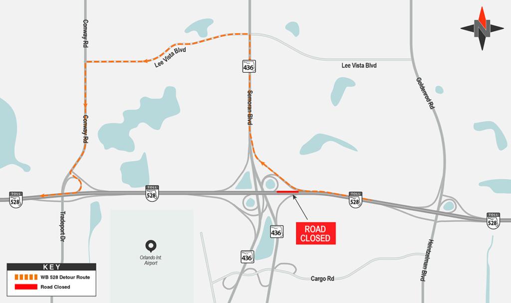 Westbound SR 528 Detour