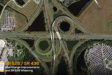 Beginning view of SR 528/SR436 interchange